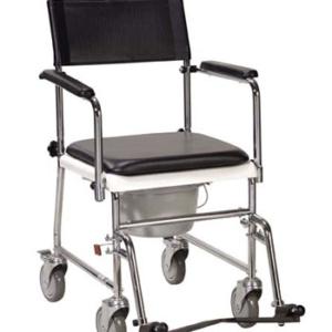 fauteuil-pliant-portable-rembourre-roues-accoudoirs-rabattables